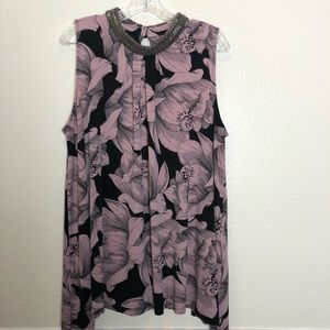 XL Alfani Hawaiian Print shift Dress. Sequencing